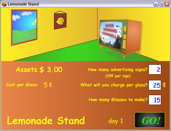 Click to view Lemonade Stand 1.6b screenshot